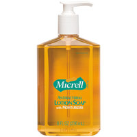 Micrell® 9752-12 8 oz. Floral Antibacterial Lotion Hand Soap with PCMX and Pump - 12/Case