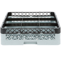 Noble Products 9-Compartment Gray Full-Size Glass Rack / Decanter Rack with 1 Black Extender - 19 3/8 inch x 19 3/8 inch x 5 3/4 inch