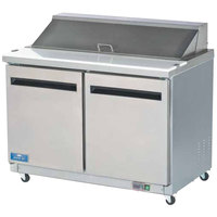 Arctic Air AST48R 48 inch Two Door Sandwich / Salad Prep Refrigerator