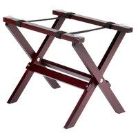 Tablecraft RTT21MG 9 1/4 inch Mini Table Tray Stand with Mahogany Finish