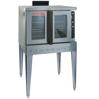 Blodgett DFG-100 Xcel Series Single Deck Full Size Gas Convection Oven with Draft Diverter - 80,000 BTU