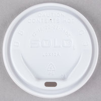 Dart Solo LGXW2-0007 The Gourmet Lid White Hot Cup Lid - 1500 / Case