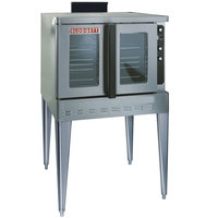Blodgett DFG-200-ES Premium Series Natural Gas Single Deck Full Size Bakery Depth Convection Oven with Draft Diverter - 50,000 BTU