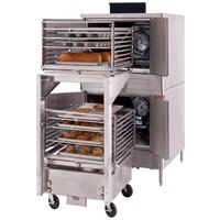 Blodgett DFG-100 Xcel Series Double Deck Full Size Roll-In Gas Convection Oven with Draft Diverter - 160,000 BTU