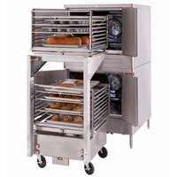 Blodgett Mark V-100 Premium Series Double Deck Roll-In Full Size Electric Convection Oven - 208V, 1 Phase, 22 kW
