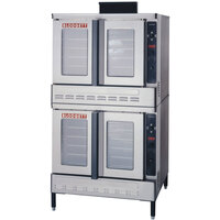 Blodgett DFG-100 Premium Series Double Deck Full Size Gas Convection Oven with Draft Diverter - 110,000 BTU