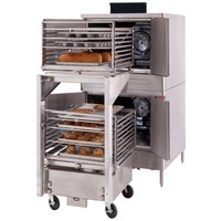 Blodgett DFG-100-ES Premium Series Double Deck Full Size Roll-In Gas Convection Oven with Draft Diverter - 90,000 BTU