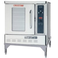 Blodgett DFG-50 Premium Series Single Deck Half Size Gas Convection Oven with Draft Diverter - 27,500 BTU