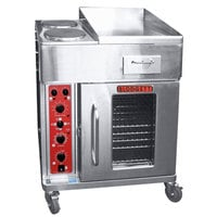 Blodgett CTBR-GFB Electric Range with 18 inch Right Griddle, Two Burners, and Convection Oven Base with Right-Hinged Door - 208V, 3 Phase, 16.8 kW