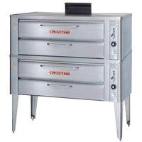 Blodgett 961P Liquid Propane Compact Double Pizza Deck Oven with Draft Diverter - 100,000 BTU