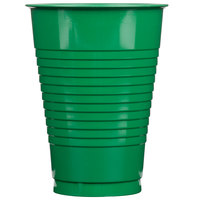 Creative Converting 28112071 12 oz. Emerald Green Plastic Cup - 240 / Case