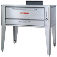 Blodgett 1048 Liquid Propane Single Pizza Deck Oven with Draft Diverter - 85,000 BTU