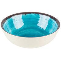 Carlisle 5400515 Mingle 17 oz. Aqua Small Melamine Bowl - 12/Case