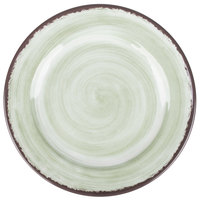 Carlisle 5400746 Mingle 7 inch Jade Round Melamine Bread and Butter Plate - 12/Case