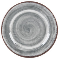 Carlisle 5400718 Mingle 7 inch Smoke Round Melamine Bread and Butter Plate   - 12/Case