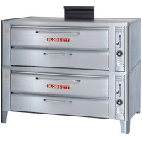 Blodgett 911 Gas Compact Double Deck Oven with Draft Diverter - 54,000 BTU