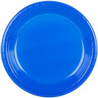 Creative Converting 28314731 10 inch Cobalt Blue Plastic Plate   - 20/Pack