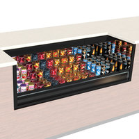 Structural Concepts CO43R-UC-QS Oasis Black 47 inch Undercounter Air Curtain Merchandiser