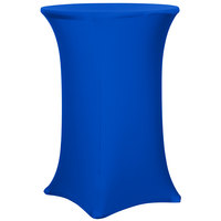 Snap Drape CC30R42-ROYAL BLUE Contour Cover 30 inch Round Royal Blue Bar Height Spandex Table Cover