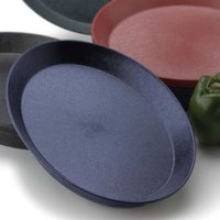 HS Inc. HS1057SB 11 inch Blueberry Polypropylene Oval Deli Server with Short Base - 48 / Case