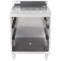 Regency Stainless Steel Corrugated Top Workboard Storage Unit - 23 inch x 24 inch