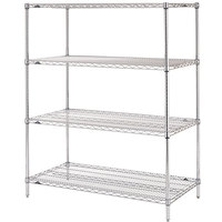 Metro N426C Super Erecta Adjustable Chrome Wire Stationary Starter Shelving Unit - 21 inch x 30 inch x 63 inch