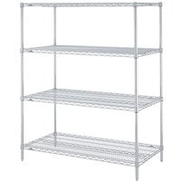 Metro N326BR Super Erecta Brite Adjustable Wire Stationary Starter Shelving Unit - 18 inch x 30 inch x 63 inch