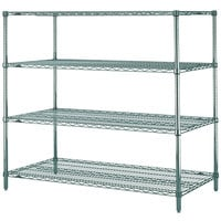 Metro N366K3 Super Erecta Metroseal 3 Adjustable Wire Stationary Starter Shelving Unit - 18 inch x 60 inch x 63 inch