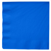Creative Converting 593147B Cobalt Blue 3-Ply Paper Dinner Napkin - 25/Pack
