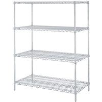 Metro N516BR Super Erecta Brite Adjustable Wire Stationary Starter Shelving Unit - 24 inch x 24 inch x 63 inch