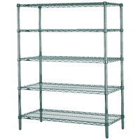 Metro 5N477K3 Super Erecta Metroseal 3 Adjustable Wire Stationary Starter Shelving Unit - 21 inch x 72 inch x 74 inch