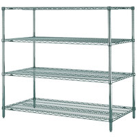 Metro N566K3 Super Erecta Metroseal 3 Adjustable Wire Stationary Starter Shelving Unit - 24 inch x 60 inch x 63 inch