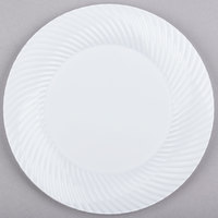 Visions Wave 6 inch White Plastic Plate - 18/Pack