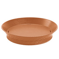 GET RB-880-TER 10 1/2 inch Terracotta Round Plastic Fast Food Basket with Base - 12 / Pack