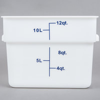 12 Qt. White Square Food Storage Container