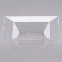Visions Florence 5 oz. Clear Square Plastic Bowl - 120/Case