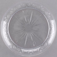 Choice Crystal 6 inch Clear Plastic Plate - 240/Case