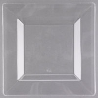 "Visions Florence 8"" Square Clear Plastic Plate   - 120/Case"
