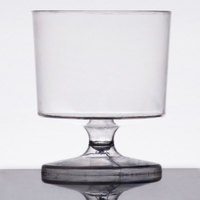 Visions 2 oz. Clear 1-Piece Plastic Wine Glass - 240/Case