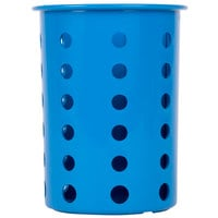 Steril-Sil RP-25-BLUE Blue Plastic Straight Sided Flexible Silverware Cylinder