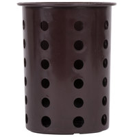 Steril-Sil RP-25-BROWN Brown Plastic Straight Sided Flexible Silverware Cylinder