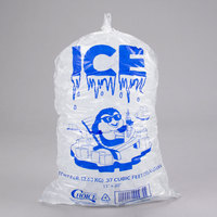 Choice 8 lb. Clear Plastic Ice Bag with Ice Print - 1000/Case