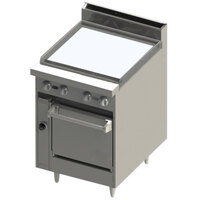 Blodgett BR-24G-24C 24 inch Manual Gas Range with Griddle Top and Convection Oven Base - 78,000 BTU