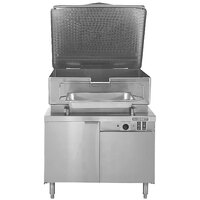 Blodgett BCH-40G 40 Gallon Hydraulic Tilt Gas Braising Pan / Tilt Skillet with 48 inch Cabinet Base - 100,000 BTU