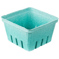 1 Qt. Green Molded Pulp Berry / Produce Basket - 250 / Case