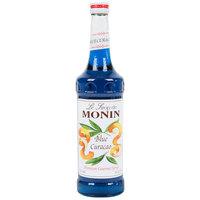 Monin 750 mL Premium Blue Curacao Flavoring Syrup