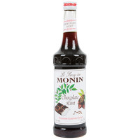 Monin 750 mL Premium Chocolate Mint Flavoring Syrup
