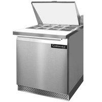 Continental Refrigerator SW27-12M-FB 27 inch Mighty Top Front Breathing Sandwich / Salad Prep Refrigerator