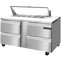 Continental Refrigerator SW60-12-D 60 inch Sandwich / Salad Prep Refrigerator with Four Drawers