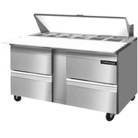 Continental Refrigerator SW60-16C-D 60 inch Cutting Top Sandwich / Salad Prep Refrigerator with Four Drawers